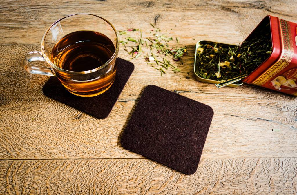 Dark-Brown felt coaster-2