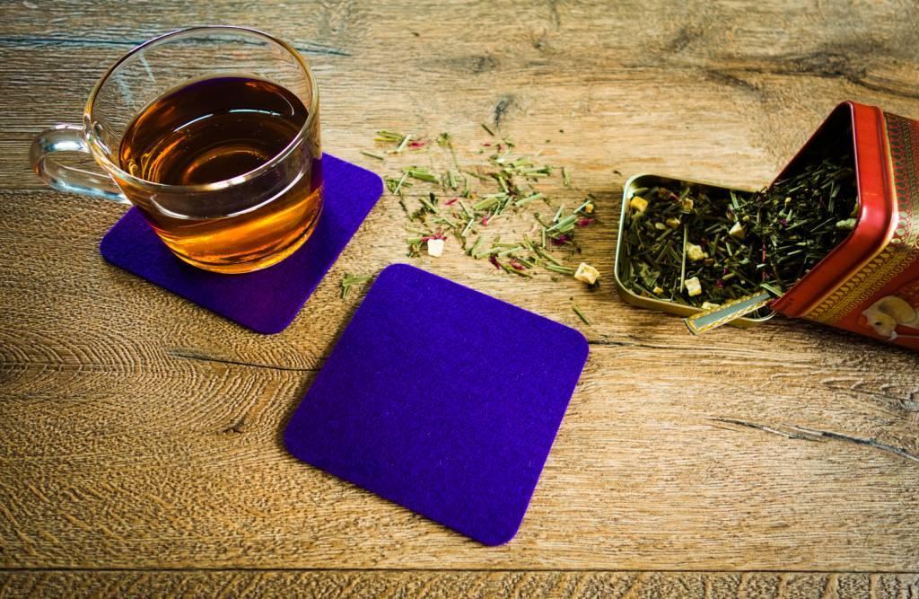 Purple felt coaster-2