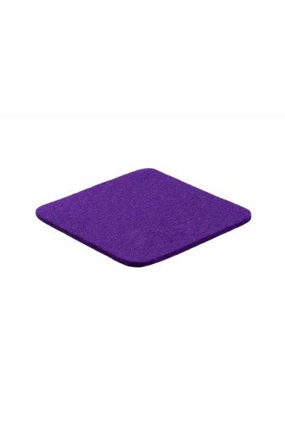 Purple felt coaster