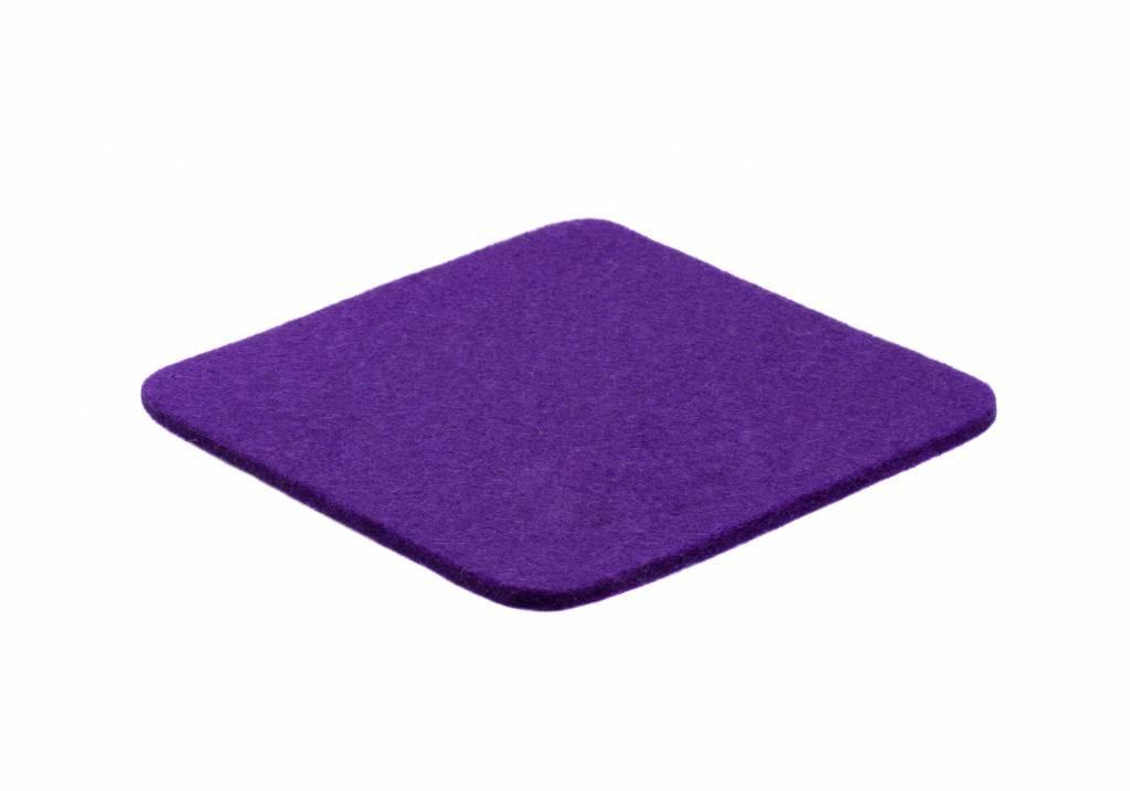 Purple felt coaster-1