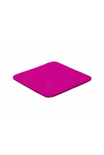 Pink felt coaster