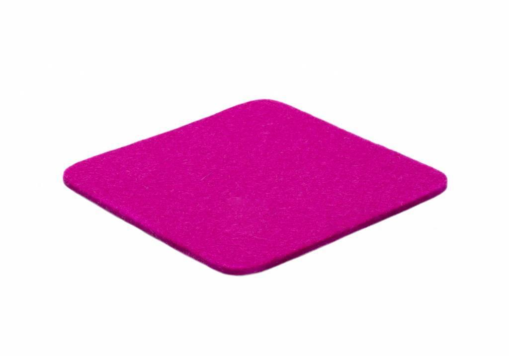 Pink felt coaster-1
