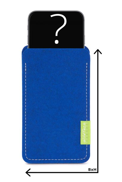 Individual Smartphone Sleeve Azure