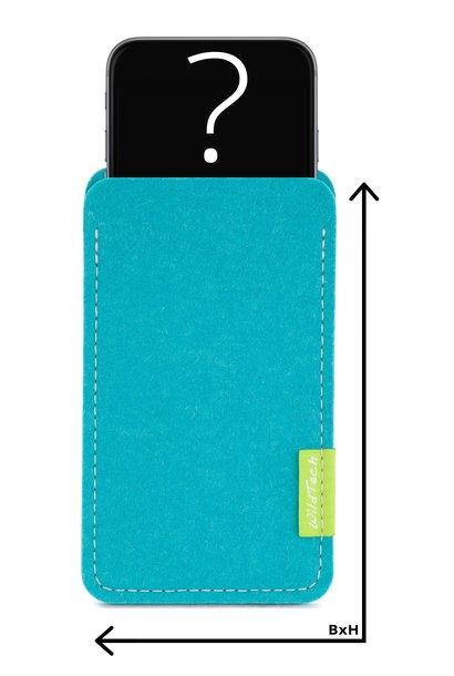 Individuelles Smartphone Sleeve Türkis