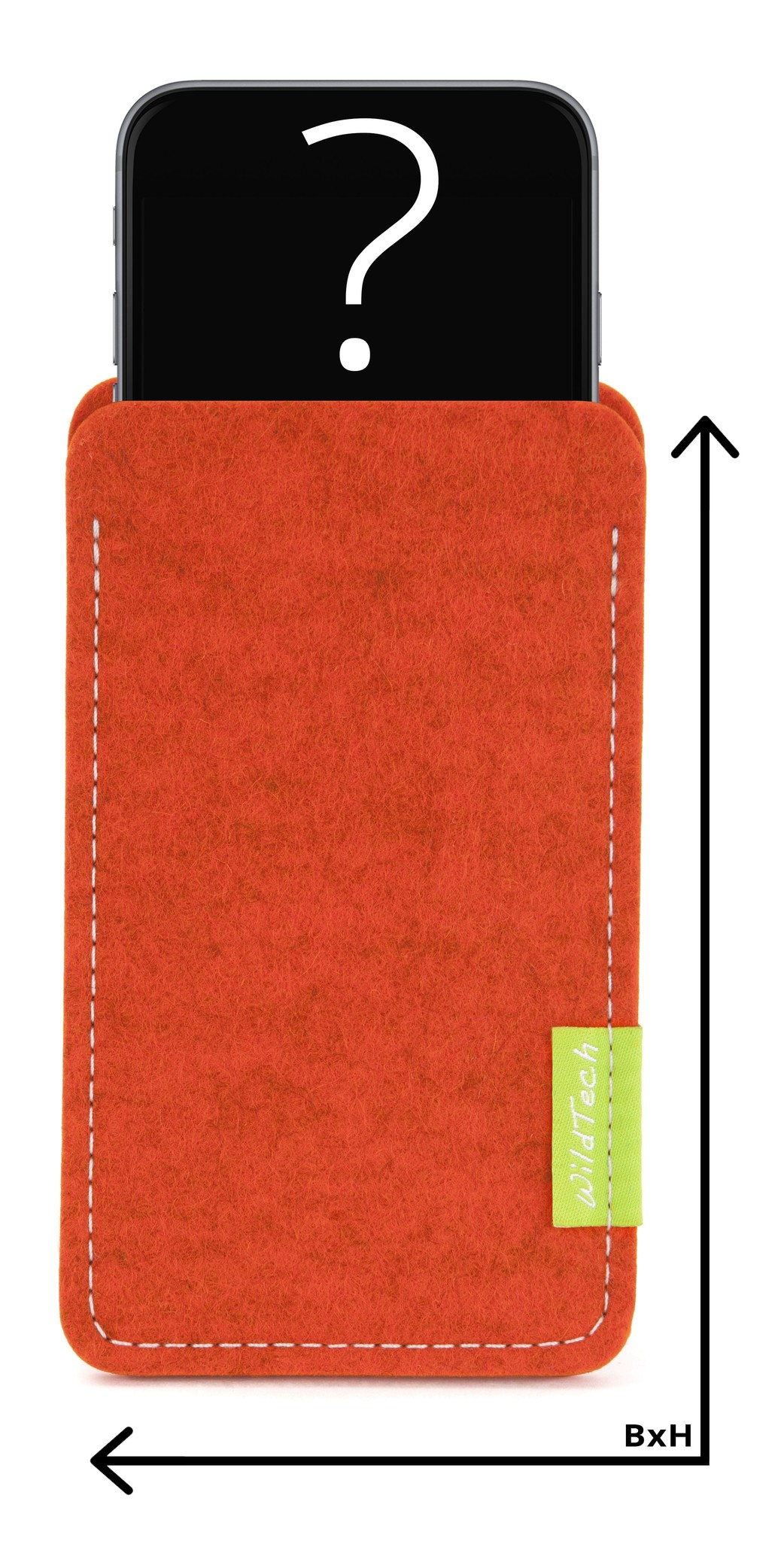 Individuelles Smartphone Sleeve Rost-1