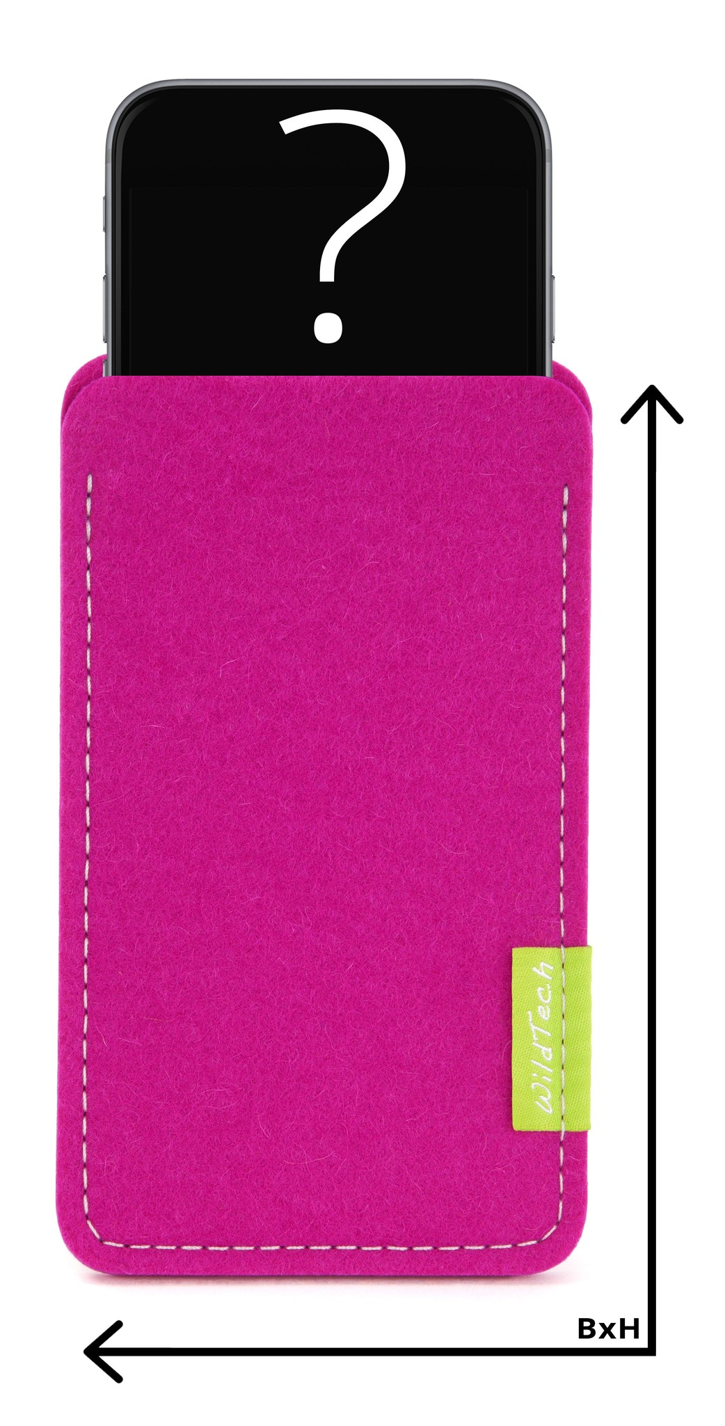 Individual Smartphone Sleeve Pink-1