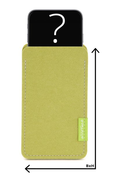 Individual Smartphone Sleeve Lime-Green