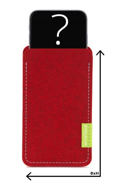 Individuelles Smartphone Sleeve Kirschrot