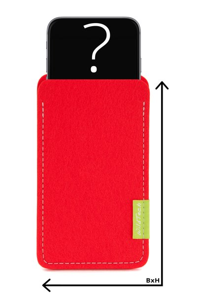 Individual Smartphone Sleeve Bright-Red