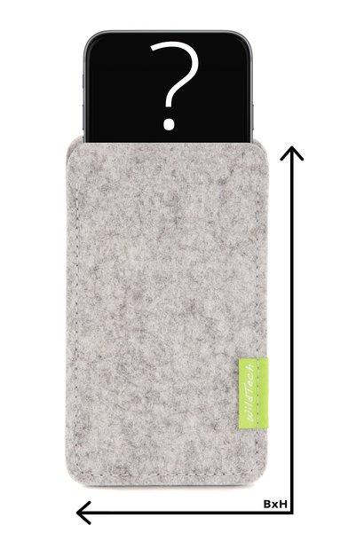 Individuelles Smartphone Sleeve Hellgrau