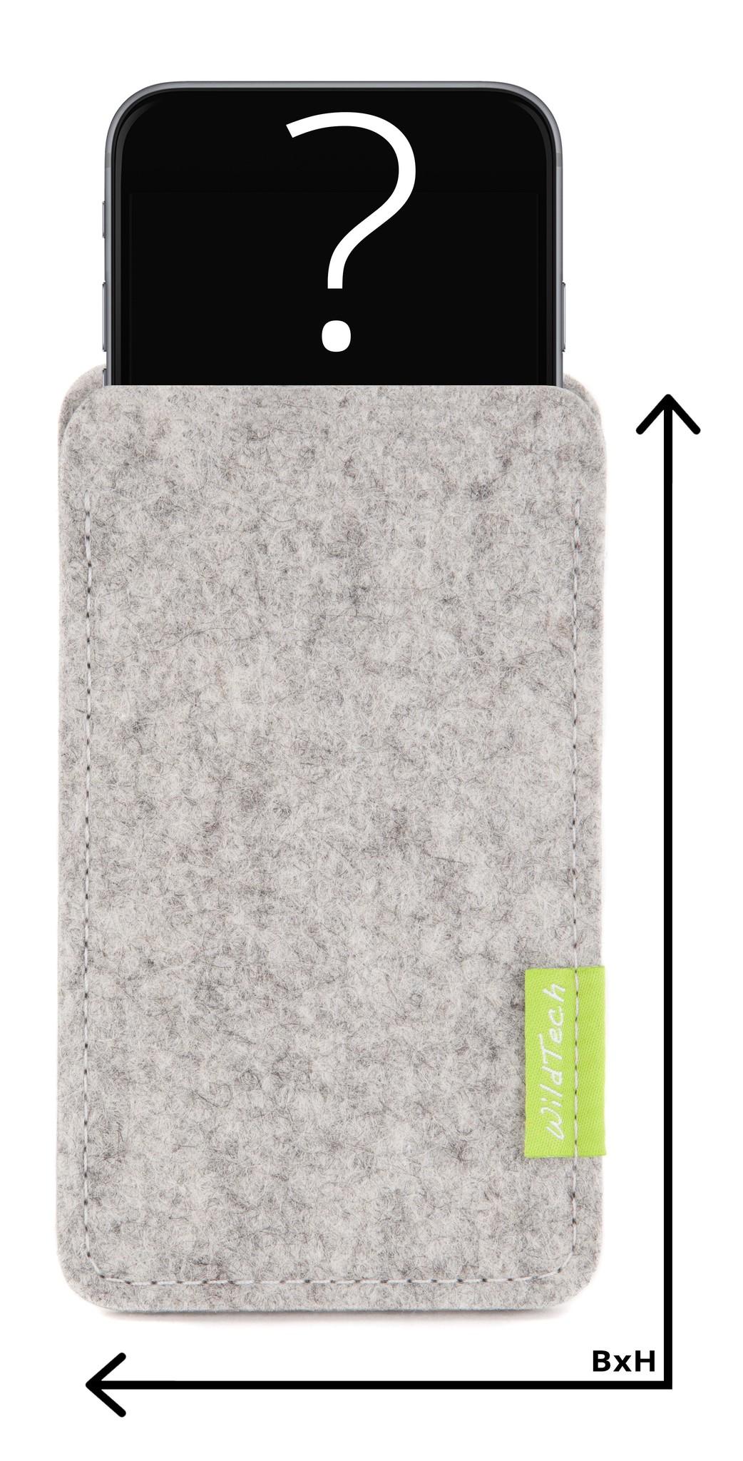 Individuelles Smartphone Sleeve Hellgrau-1