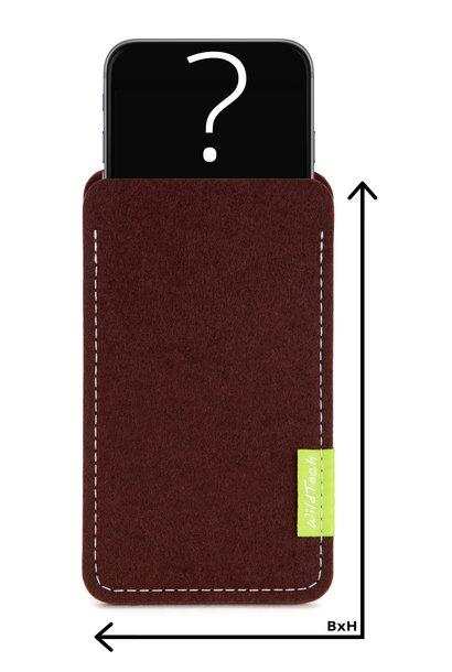 Individuelles Smartphone Sleeve Dunkelbraun