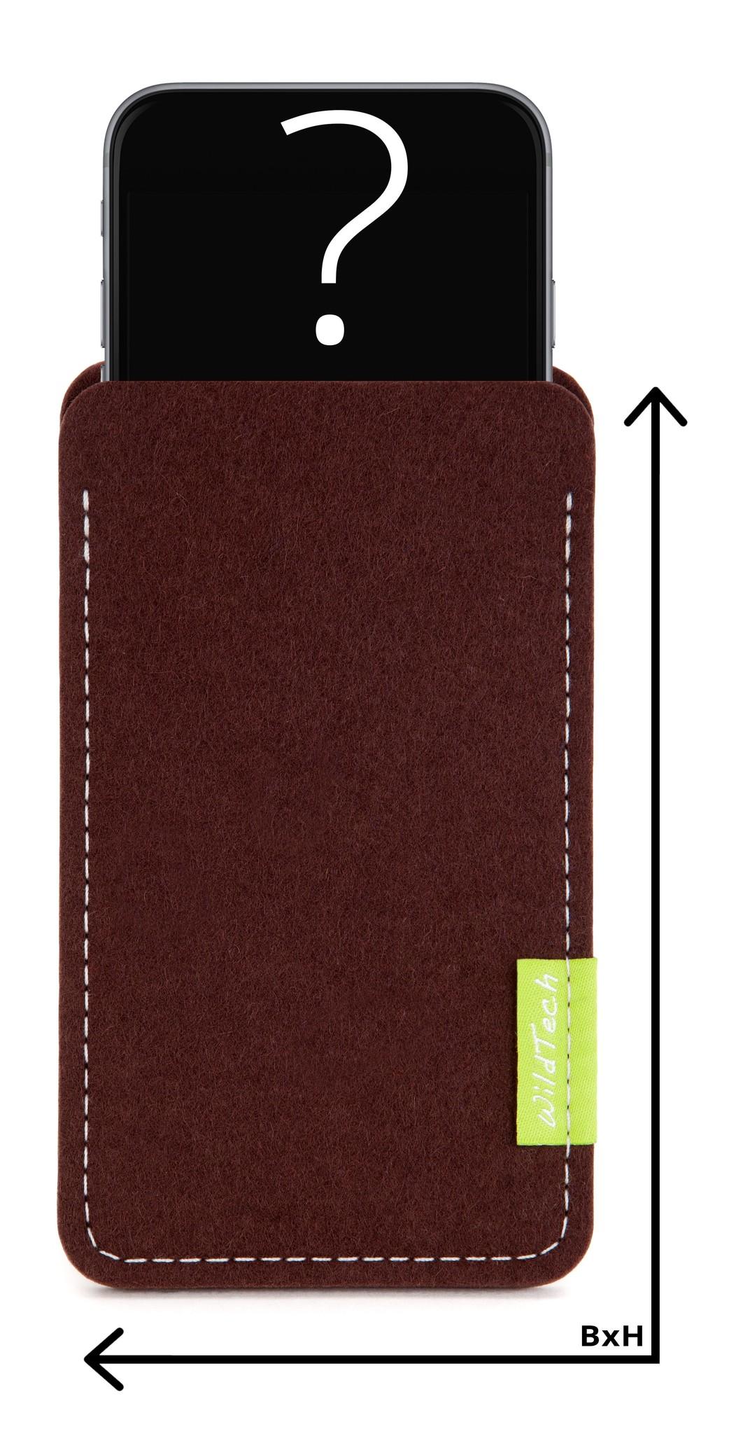 Individuelles Smartphone Sleeve Dunkelbraun-1