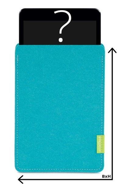 Individuelles Tablet Sleeve Türkis
