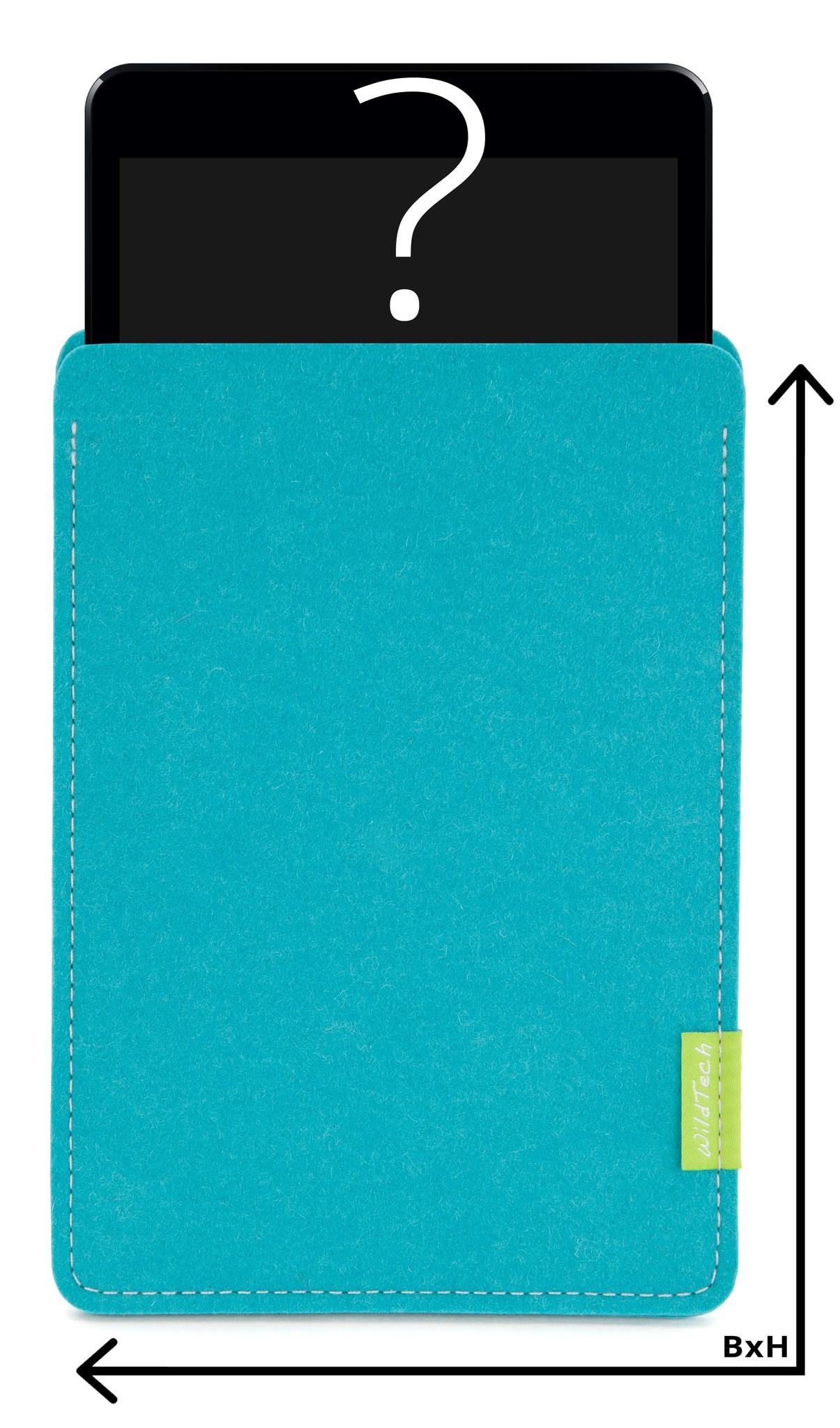Individuelles Tablet Sleeve Türkis-1