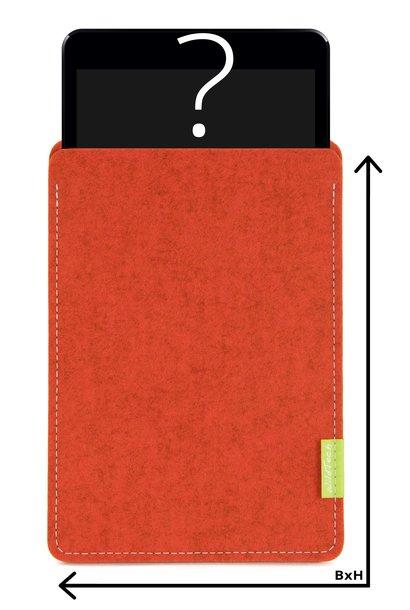 Individual Tablet Sleeve Rust