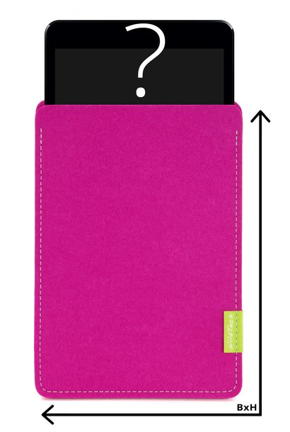 Individual Tablet Sleeve Pink