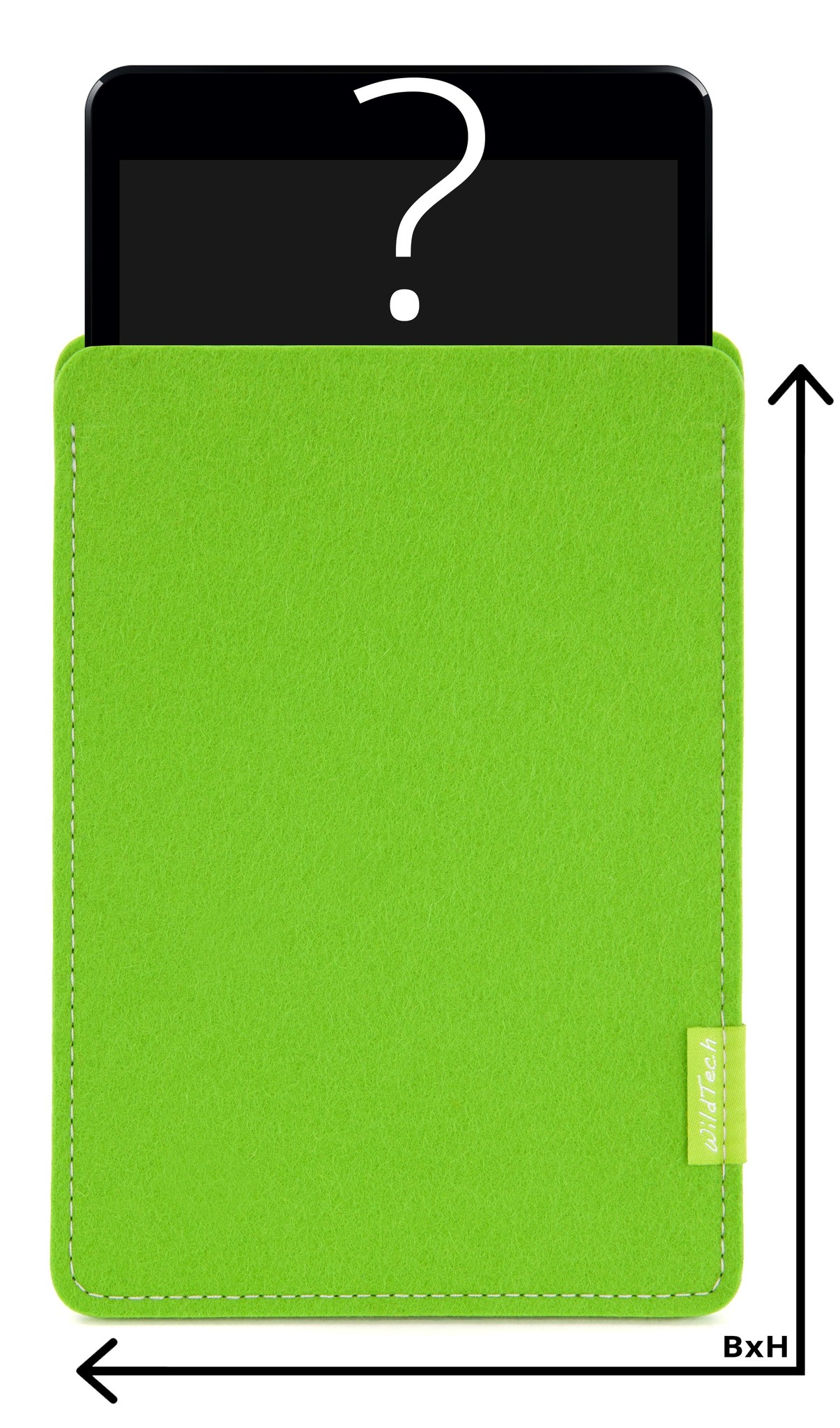 Individual Tablet Sleeve Bright-Green-1