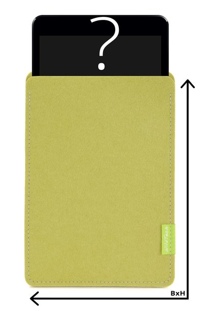 Individual Tablet Sleeve Lime-Green