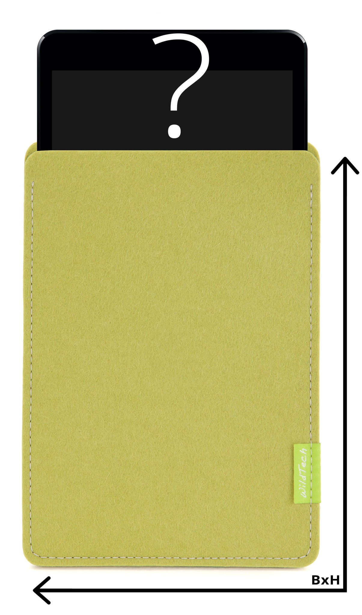 Individual Tablet Sleeve Lime-Green-1