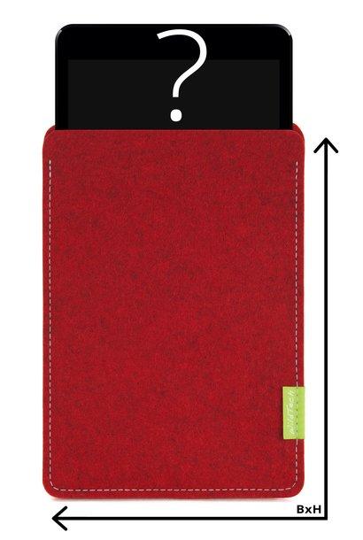 Individuelles Tablet Sleeve Kirschrot