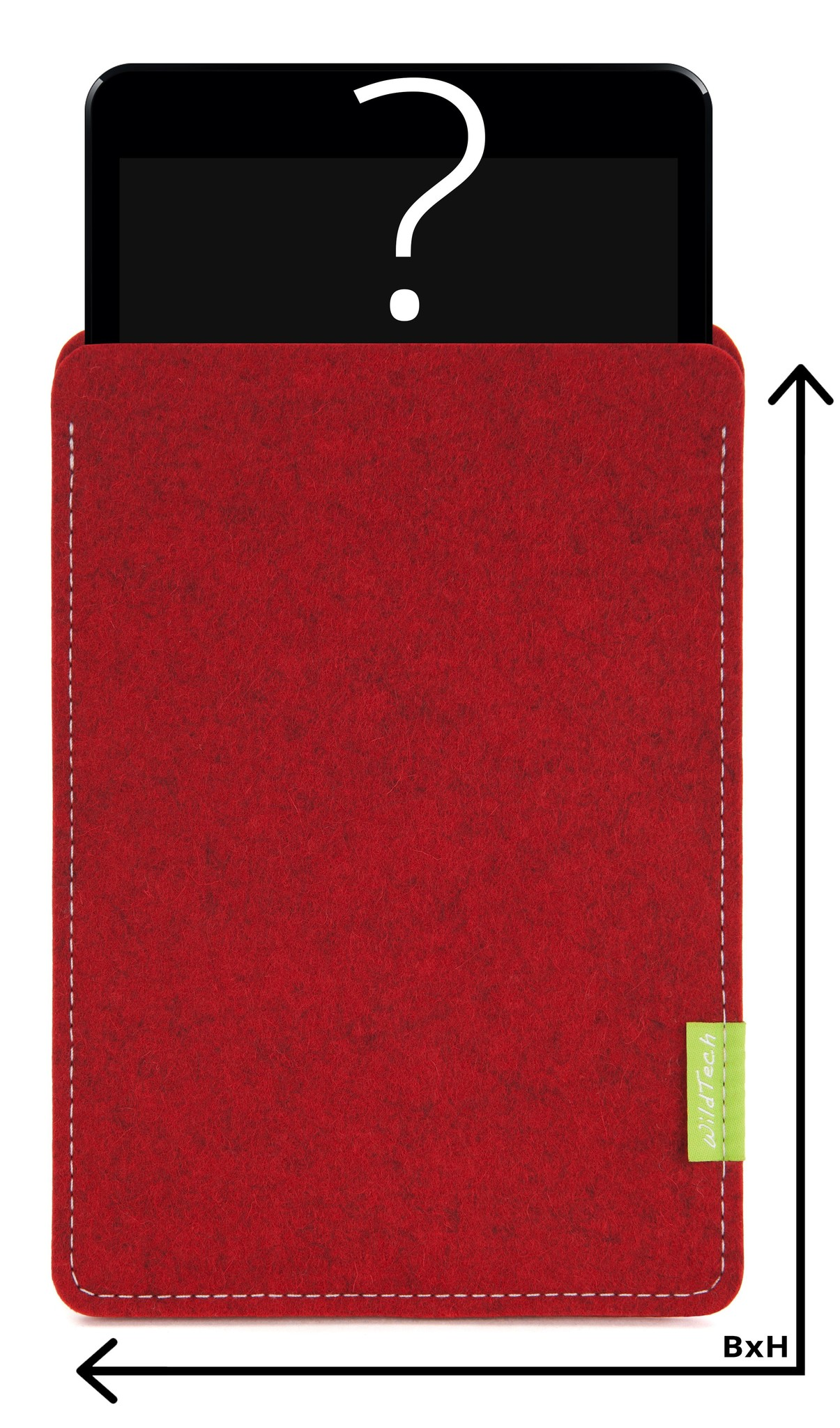Individual Tablet Sleeve Cherry-1