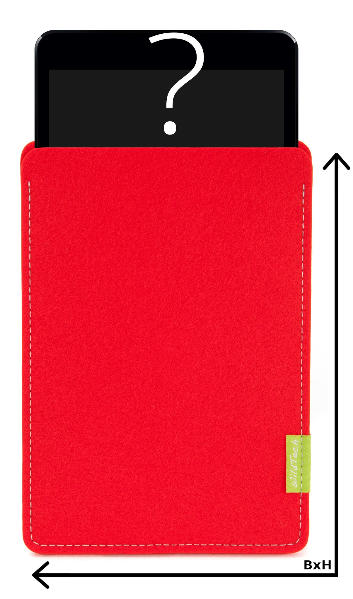 Individual Tablet Sleeve Light-Red-1