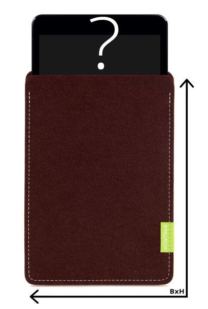 Individual Tablet Sleeve Dark-Brown