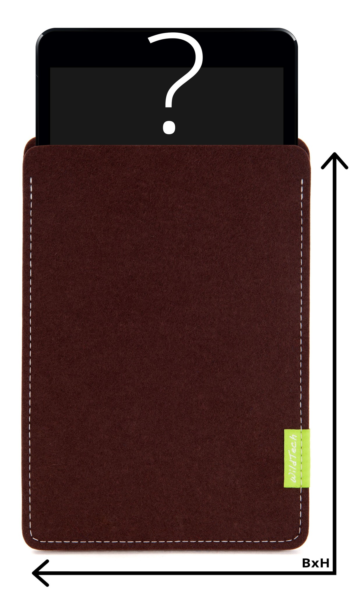 Individuelles Tablet Sleeve Dunkelbraun-1