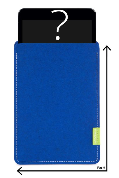 Individual Tablet Sleeve Azure