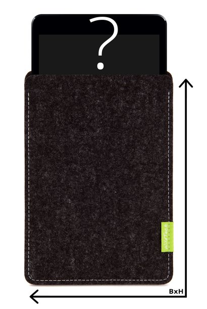Individuelles Tablet Sleeve Anthrazit