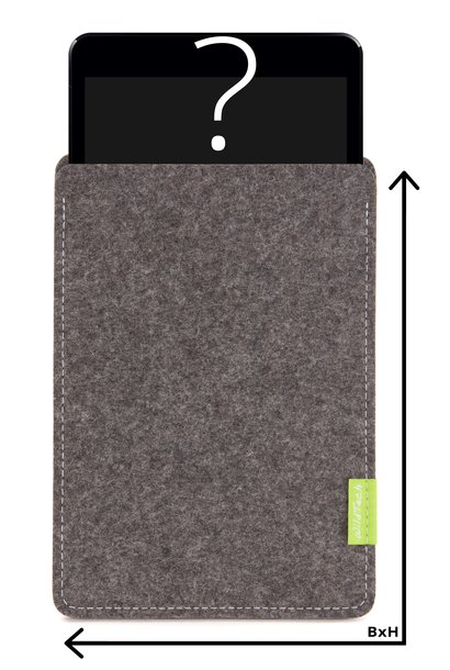 Individual Tablet Sleeve Grey