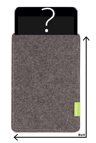Individuelles Tablet Sleeve Grau