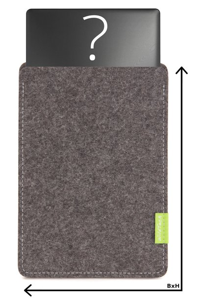 Individuelles Notebook Sleeve Grau