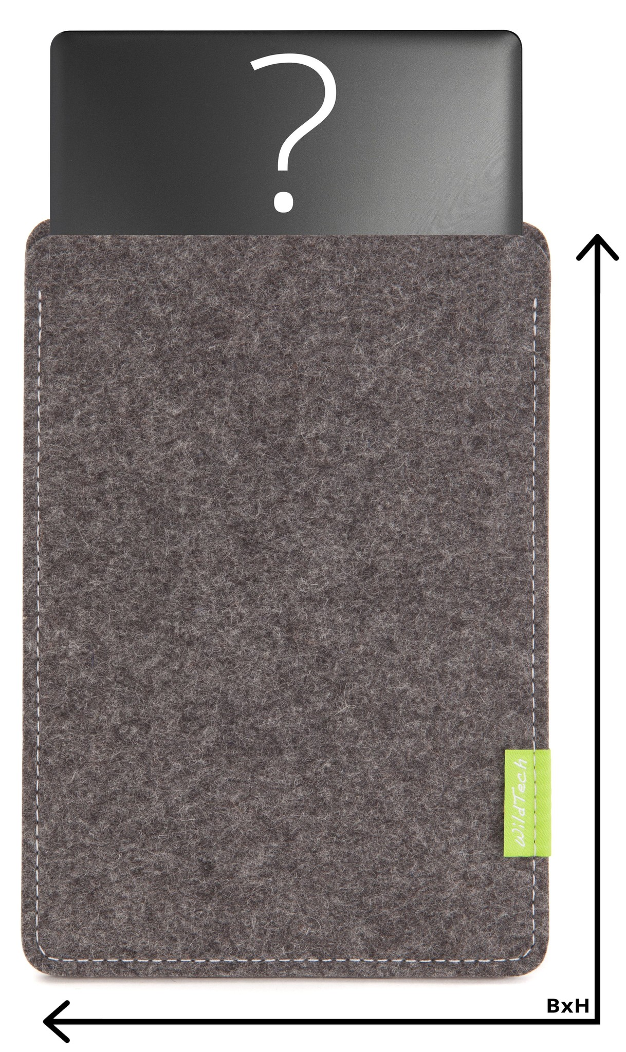 Individuelles Notebook Sleeve Grau-1