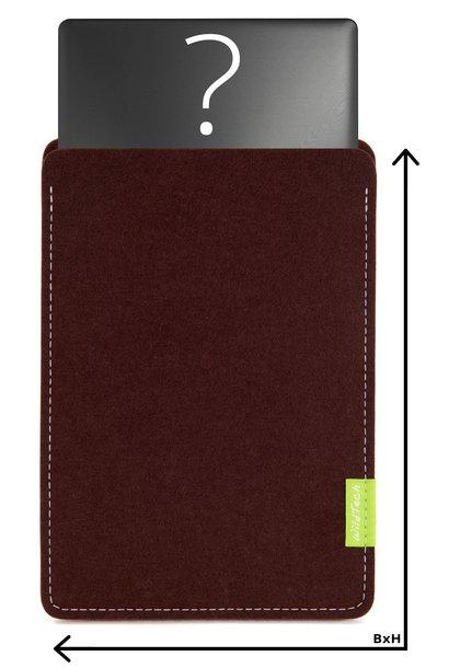 Individuelles Notebook Sleeve Dunkelbraun