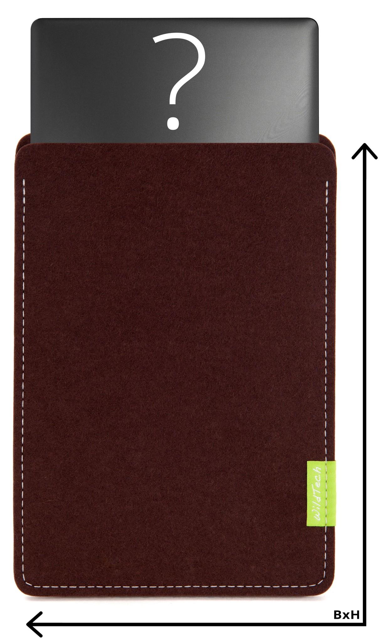 Individuelles Notebook Sleeve Dunkelbraun-1