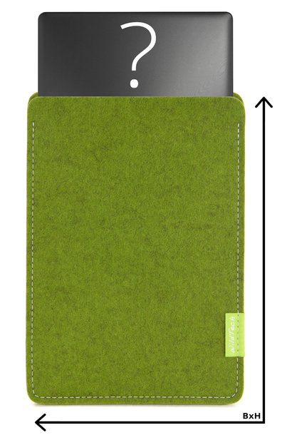 Individual Notebook Sleeve Farn-Green