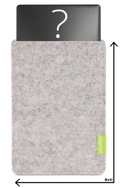 Individual Notebook Sleeve Bright-Grey