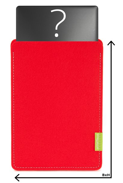 Individual Notebook Sleeve Bright-Red