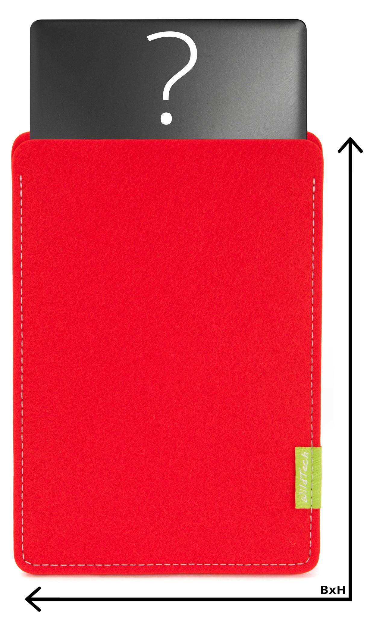 Individuelles Notebook Sleeve Hellrot-1