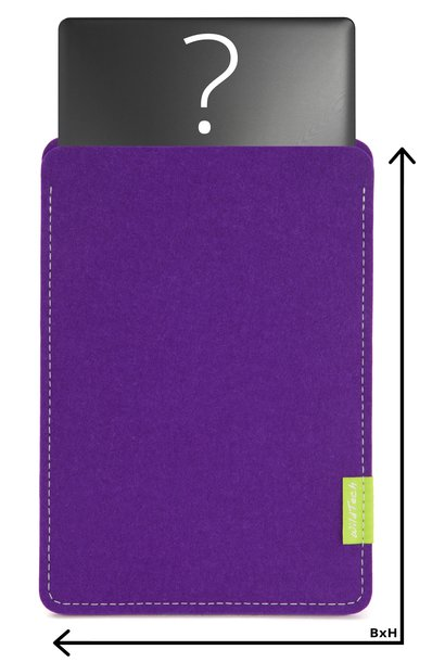 Individuelles Notebook Sleeve Lila