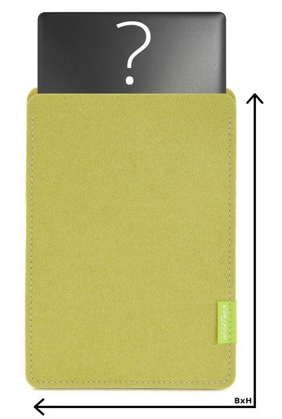 Individuelles Notebook Sleeve Lindgrün