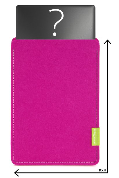 Individuelles Notebook Sleeve Pink
