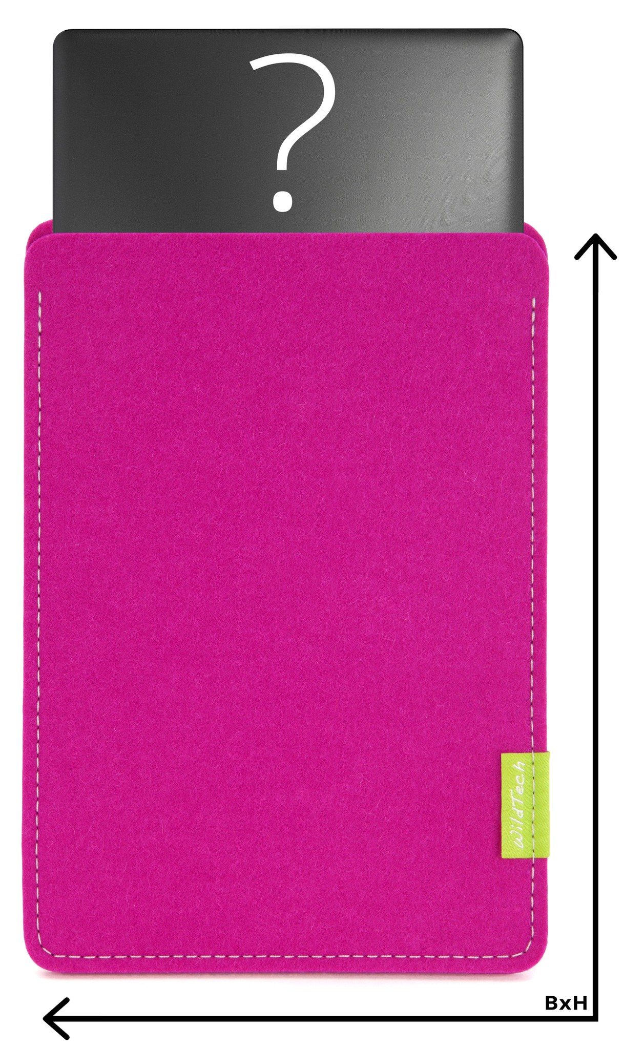 Individual Notebook Sleeve Pink-1
