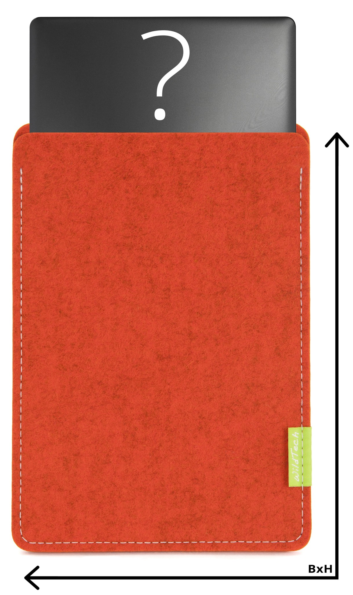 Individuelles Notebook Sleeve Rost-1