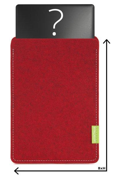 Individuelles Notebook Sleeve Kirschrot