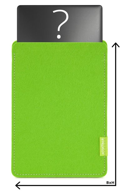 Individual Notebook Sleeve Bright-Green