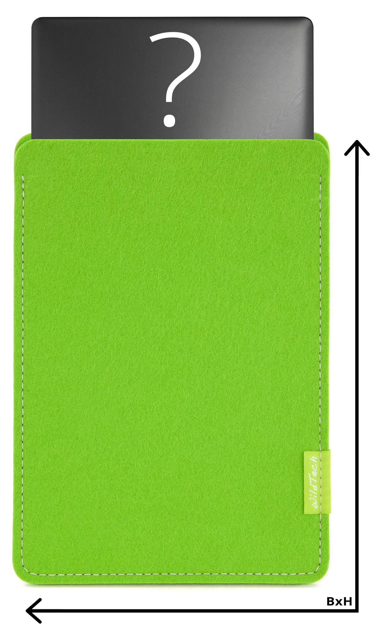 Individuelles Notebook Sleeve Maigrün-1