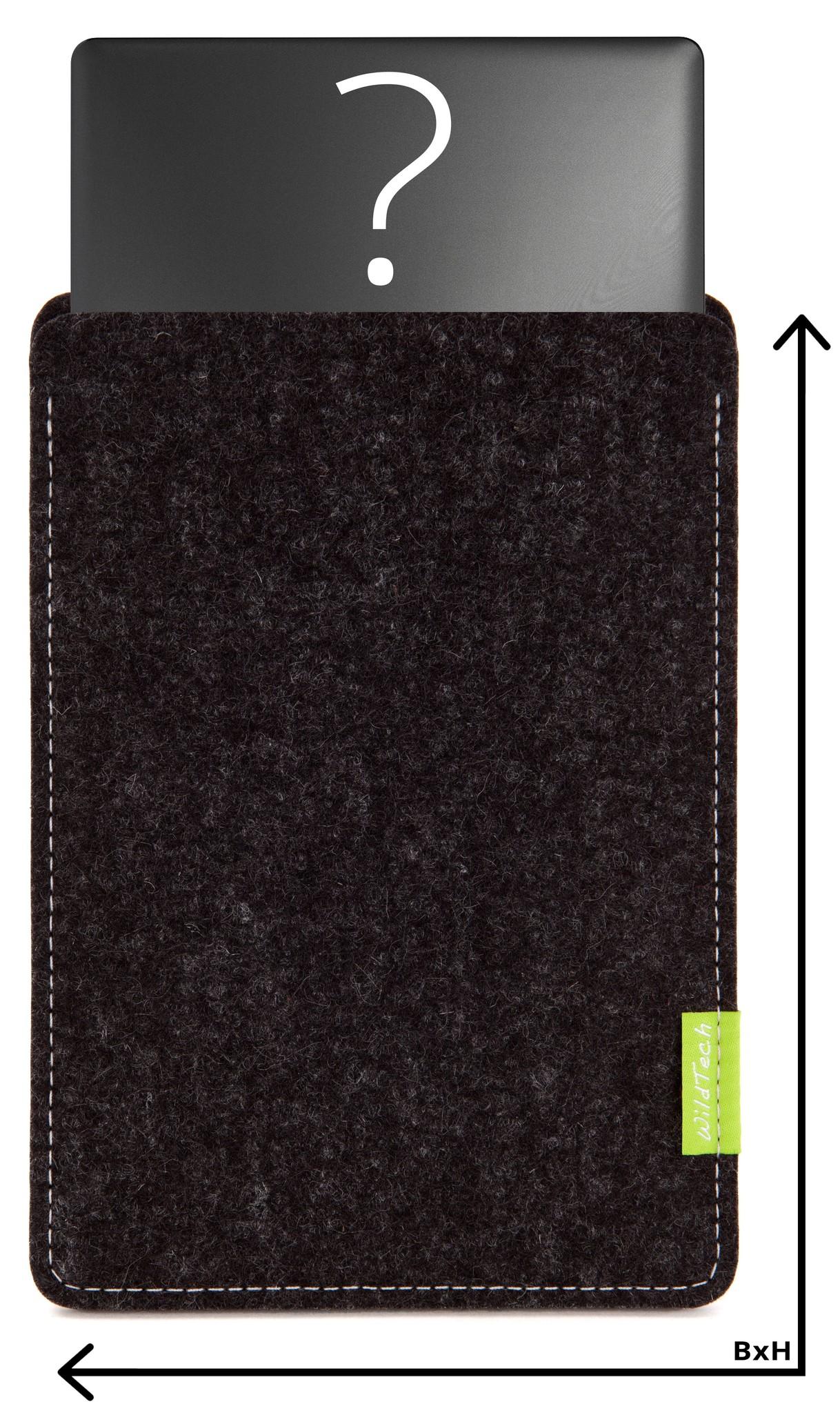 Individuelles Notebook Sleeve Anthrazit-1